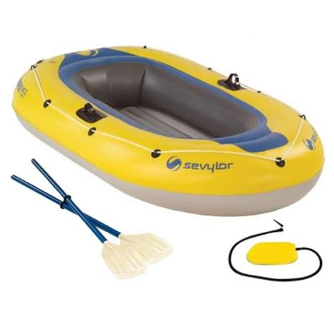Inflatable Pool Boat With Oars by Sevylor Caravelle 2 Person Inflatable Boat With Pump And