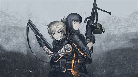 Anime With Gun Wallpaper - tactical wallpaper wallpaper21