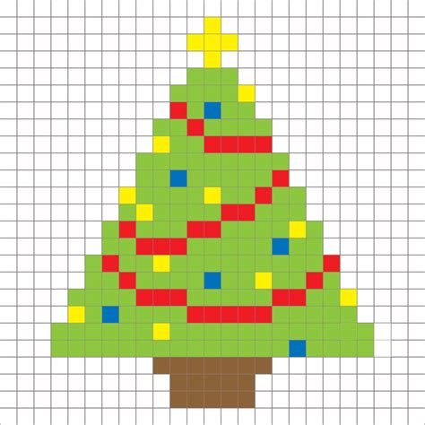 crochet christmas tree pixel square repeat crafter me