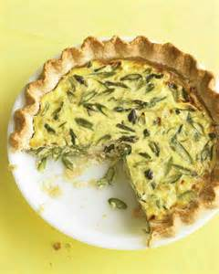 Asparagus Leek and Gruyere Quiche