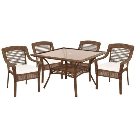Home Depot Patio Cushion Set by Hton Bay Brown 5 Patio Dining Set
