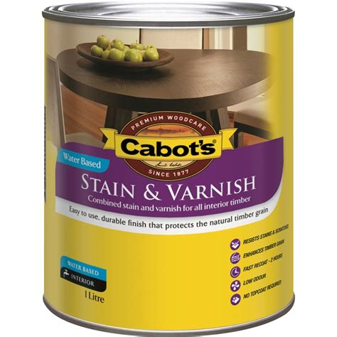 cabots  gloss walnut water based stain  varnish