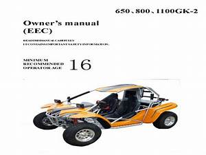 Kinroad Xt1100gk-2 Buggy - Wiring Diagram - Owners Manual