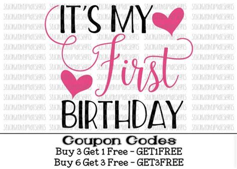Svg is an image format used for vectors graphics. It's My First Birthday Svg First Birthday 1st Birthday Svg