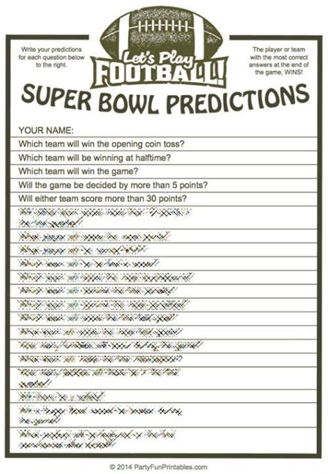 super bowl trivia multiple choice printable game