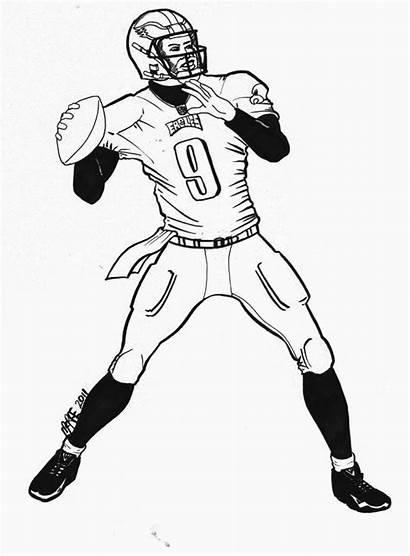 Coloring Football Jersey Nfl Eagles Mascot Eagle