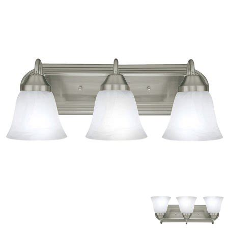 Three Light Bathroom Fixture by Three Globe Bathroom Vanity Light Bar Bath Fixture