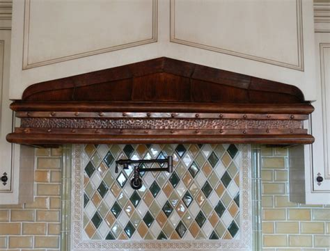 copper range hoods  cabinet rustica house