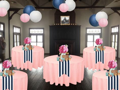 navy blue tablescape looked   thought