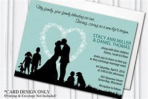 blended family wedding invitation blending stepfamily With wedding invitations wording for blended families