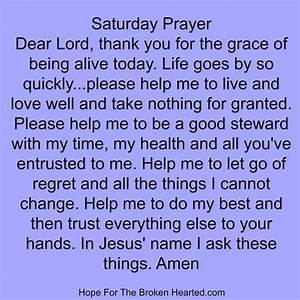 Saturday Prayer  With Images