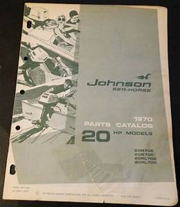 1970 Johnson Outboard Motor 20 Hp Parts Manual P  N 384396