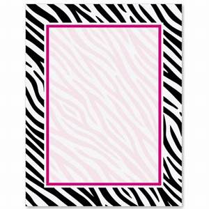 Zebra Print PaperFrames Border Papers | PaperDirect