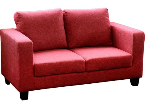 seconique tempo  seater sofa   box red fabric settee