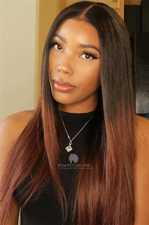 ombre brown hair color lace wig bryana007 wowafrican com