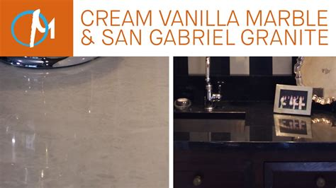 vanilla marble san gabriel black granite kitchen