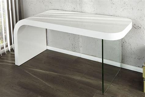 bureau et blanc bureau design blanc laque et verre timmen
