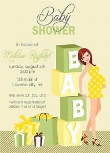 Blocks Baby Shower Invitations - Gender Neutral Also ...