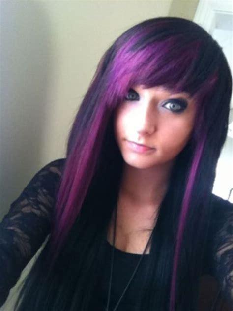 Purple Hair Color Ideas For Dark Hair Emo Purple Hair