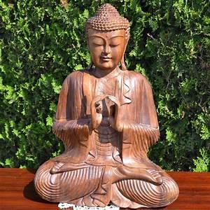 Statue De Bouddha : statue bouddha en bois de suar meubles ~ Teatrodelosmanantiales.com Idées de Décoration