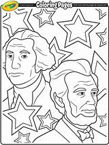 Lincoln Abraham Washington George Presidents Coloring Pages Printable Preschool President Print Sheets Drawing Printables Crayola Clip Adult Worksheets Winter Happy sketch template