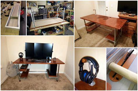design your own computer desk online build your own diy computer gaming desk