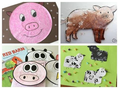 10 easy and farm animal crafts for toddlers and 576 | Farm Animal Crafts for Toddlers Landscape 600x450