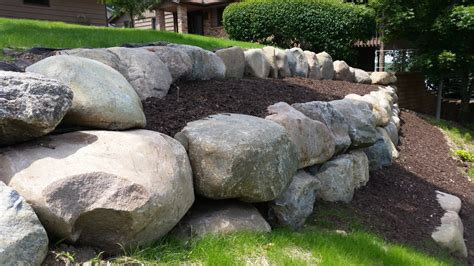 boulder retaining wall block natural stone or boulder wall retaining walls ns landscapes