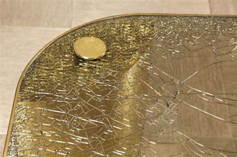 crackle glass table l fantastic coffee table of brass with a crackle glass top