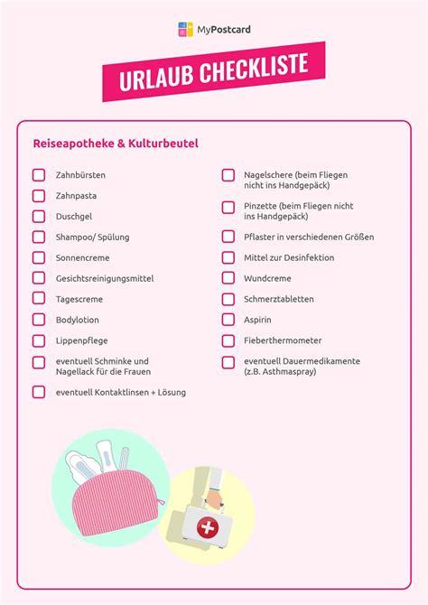 Checkliste Urlaub Alles Im Gepaeck by Projekt Packliste Sommerurlaub Die Komplette