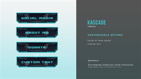 Twitch Panel Template Twitch Panels Custom Downloadable Panel Templates
