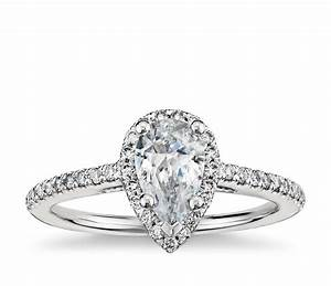 pear shaped halo engagement ring bercott diamonds With pear shaped wedding ring