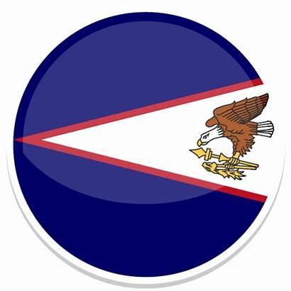 Samoa American Round Flag Icon Icons Flags