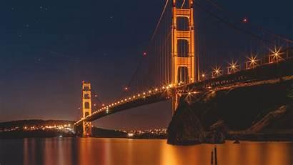 Francisco Bridge Gate Golden San 4k Night