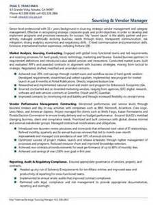 Vendor Management Specialist Resume by Vendor Management Resume Sle Resume My Career
