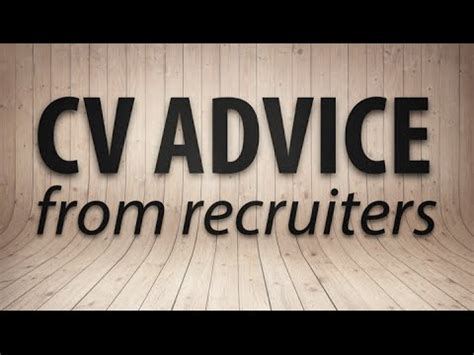 Cv Advice by Cv Advice From Recruiters