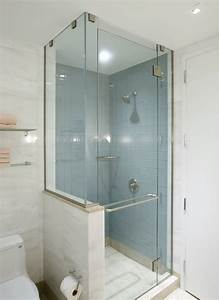 Small showers for small bathrooms - large and beautiful