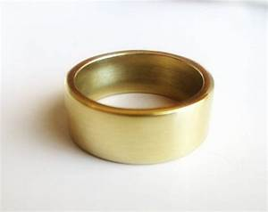 wide polished solid brass wedding band wide thick With mens brass wedding ring