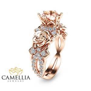 morganite wedding ring 14k gold morganite engagement ring unique morganite