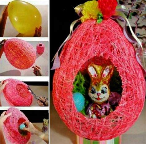 wonderful diy yarn string easter basket
