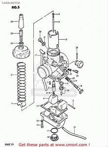 Suzuki Ds80 1980-1982  Usa  Carburetor