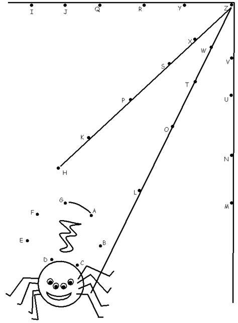 une araign 233 e tisse sa toile 224 dessiner en reliant les points