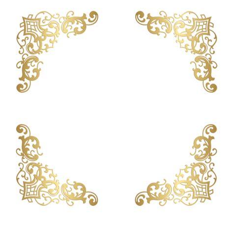 gold glitter border transparent   clip