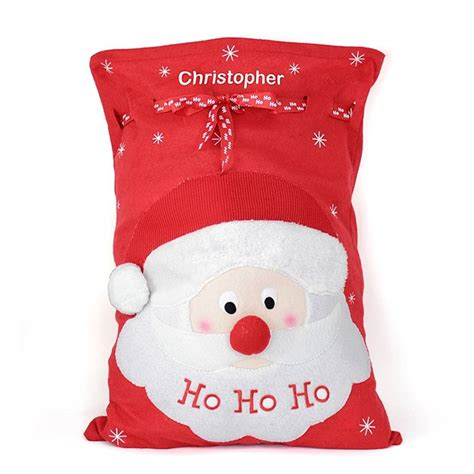 personalised santa sack by hope and willow
