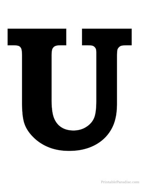 printable letter  silhouette print solid black letter