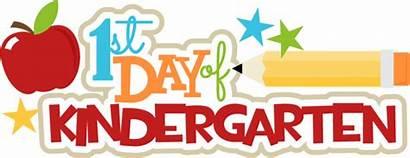 Kindergarten Clipart Title 1st Kindy Starting Svg