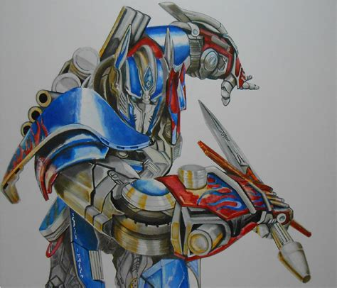 How To Draw Optimus Prime Transformers 4