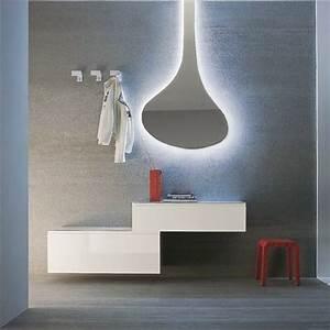 logika 4 meuble d39entree pourvu de miroir et de crochets With meuble d entree suspendu