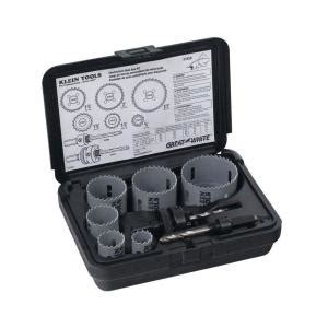 Klein Tools 8 Piece Electrician's Hole Saw Kit 31630   The