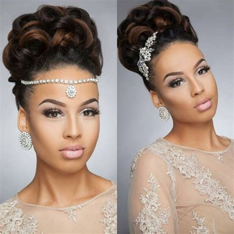 Updo Hairstyles For Black Wedding by 43 Black Wedding Hairstyles For Black
